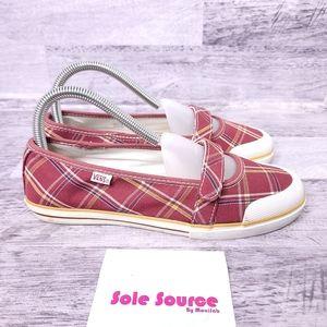 Vans Gisele Plaid Mary Jane Shoe Red 7